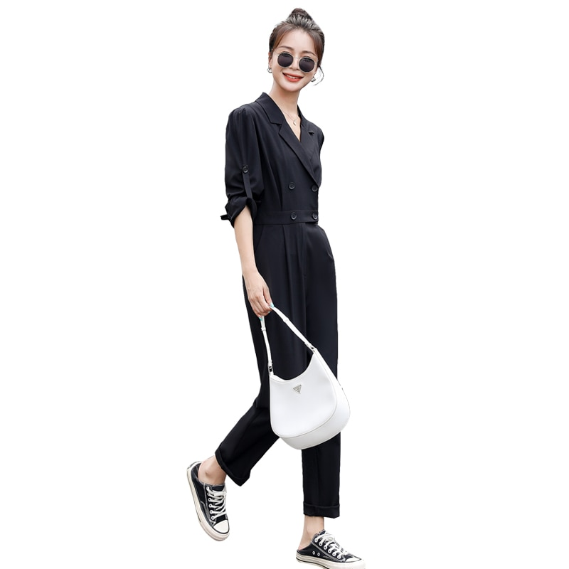 2021 autumn women's new fashion trend casual one-piece pants