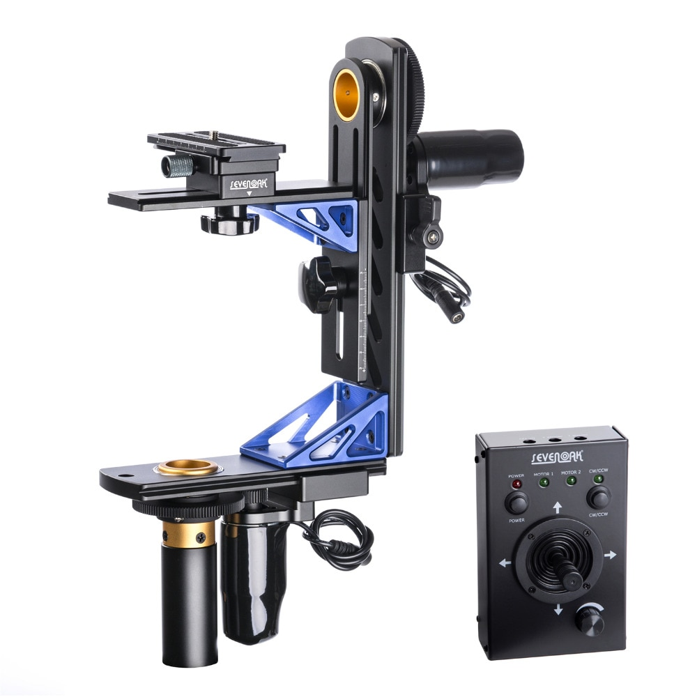 Sevenoak SK-ECH04 elektroniczny 360 panoramowanie głowica uchylna przewodowy pilot do aparatu Canon Nikon Sony DSLR kamera obciążenie 10kg