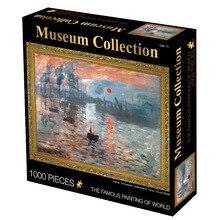 1000 stücke Puzzles Van Gogh Sonnenaufgang Öl Gemälde Museum Sammlungen Puzzles Für Erwachsene sehr schwierig handgemachte kunstwerk