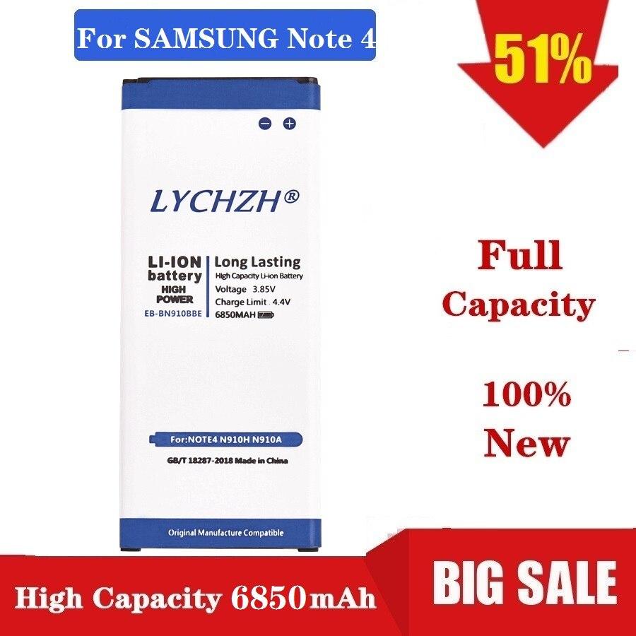 Dorigine Pour Samsung Galaxy Note 4 Batterie De Remplacement pour N910 N910F N910A N910V N910P N910T N910H EB-BN910BBE 6850mAh