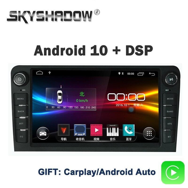 DSP IPS Android 10,0 2GB + 32GB reproductor de DVD del coche GPS mapa WIFI Bluetooth Radio Carplay para Audi A3 2002-2010 2011 S3 RS3 RNSE-PU