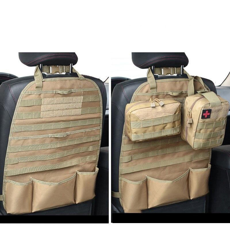 Funda táctica para asiento de coche, bolsa organizadora, mochila, bolsillos, senderismo, entrenamiento de caza, accesorios, bolsa de almacenamiento para conducción al aire libre