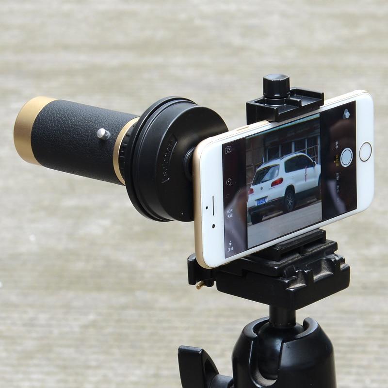 Soporte Universal para telescopio óptico negro, soporte de montaje con Clip para teléfono inteligente de 5,5-9cm de ancho