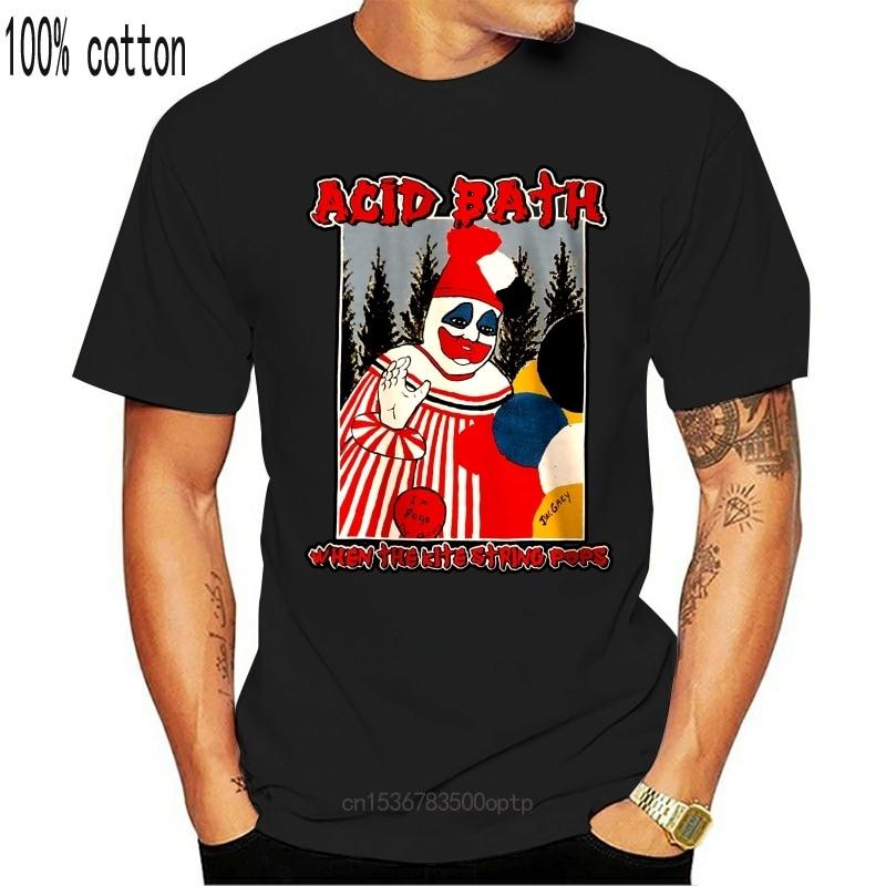 New ACID BATH Tee When The Kite String Pops Black T-Shirt Men's And Women2021 Fashion Men T shirts