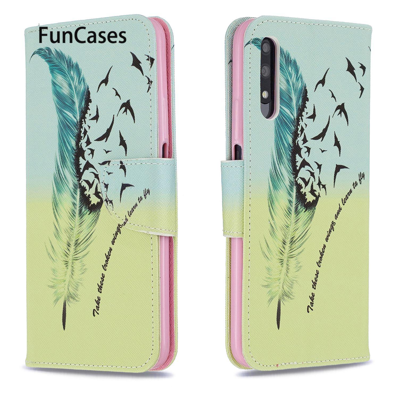 Fundas de libro para hoesje Huawei Honor 9X mariposa y flor para...