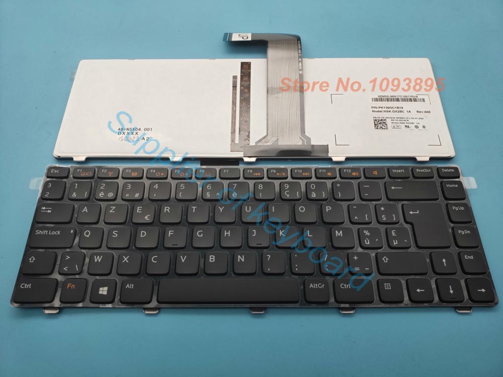 Nova Azerty teclado Para Dell VOSTRO 1440 1445 1450 1540 1550 Laptop Bélgica Azerty Teclado Com Retroiluminado