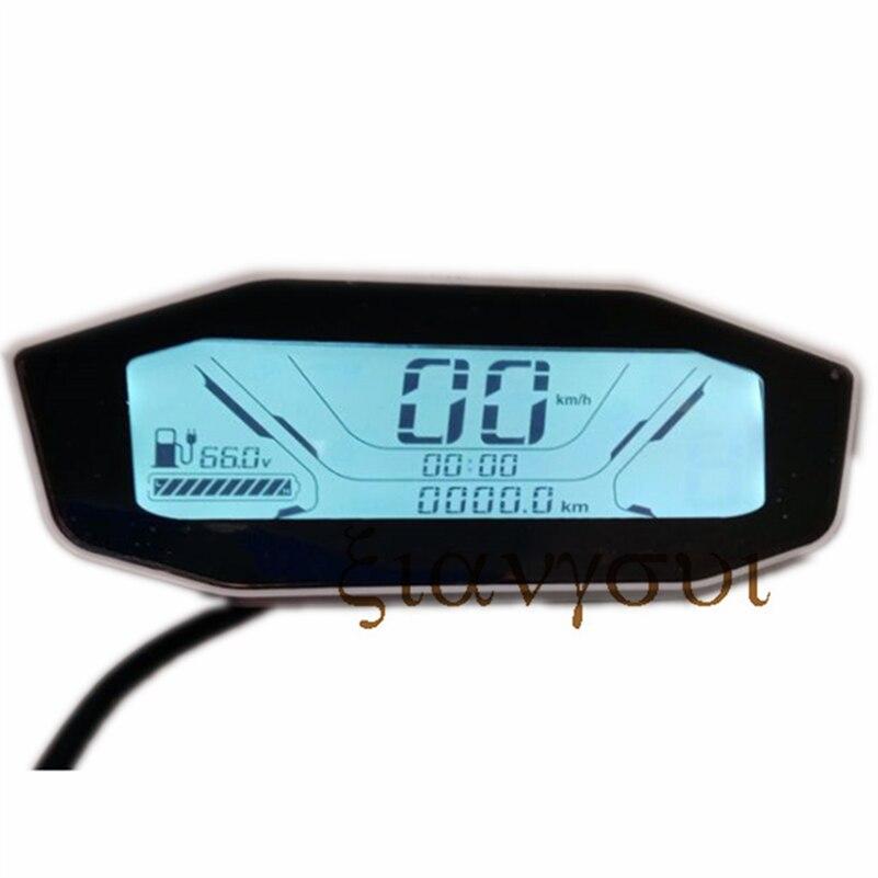متر شاشة LCD 60V72V LCD متر سرعة وعرض البطارية ل Citycoco تعديل الملحقات أجزاء