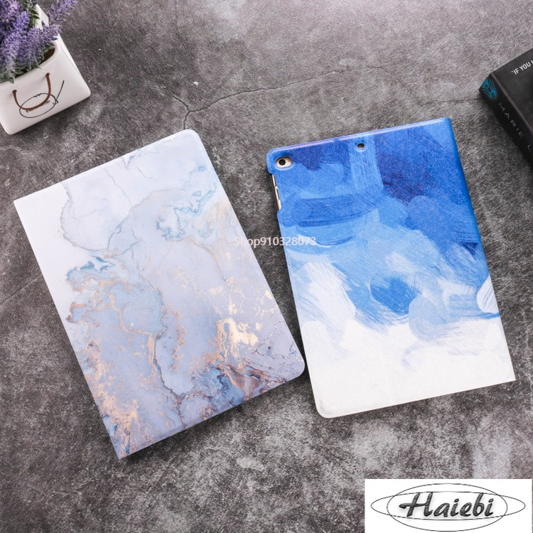 Marble Case For 10.2 iPad 219 Case Funda  for iPad 9.7 2017 2018 Air 1 2 3 iPad234 mini1234 mini5 Pro 9.7 10.5 Tablets Hard Case