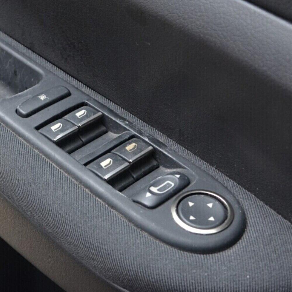 Car Window Switch Decorative Sequins Lifter Dedicated Sticker For PEUGEOT 408 508 2008 3008 4008 5008 GT 307 308 301 Citroen