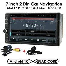 2din autoradio Android Mirrorlink Bluetooth GPS Wifi FM voiture multimédia MP5 lecteur pour Volkswagen Nissan Hyundai autoradio DTV BT