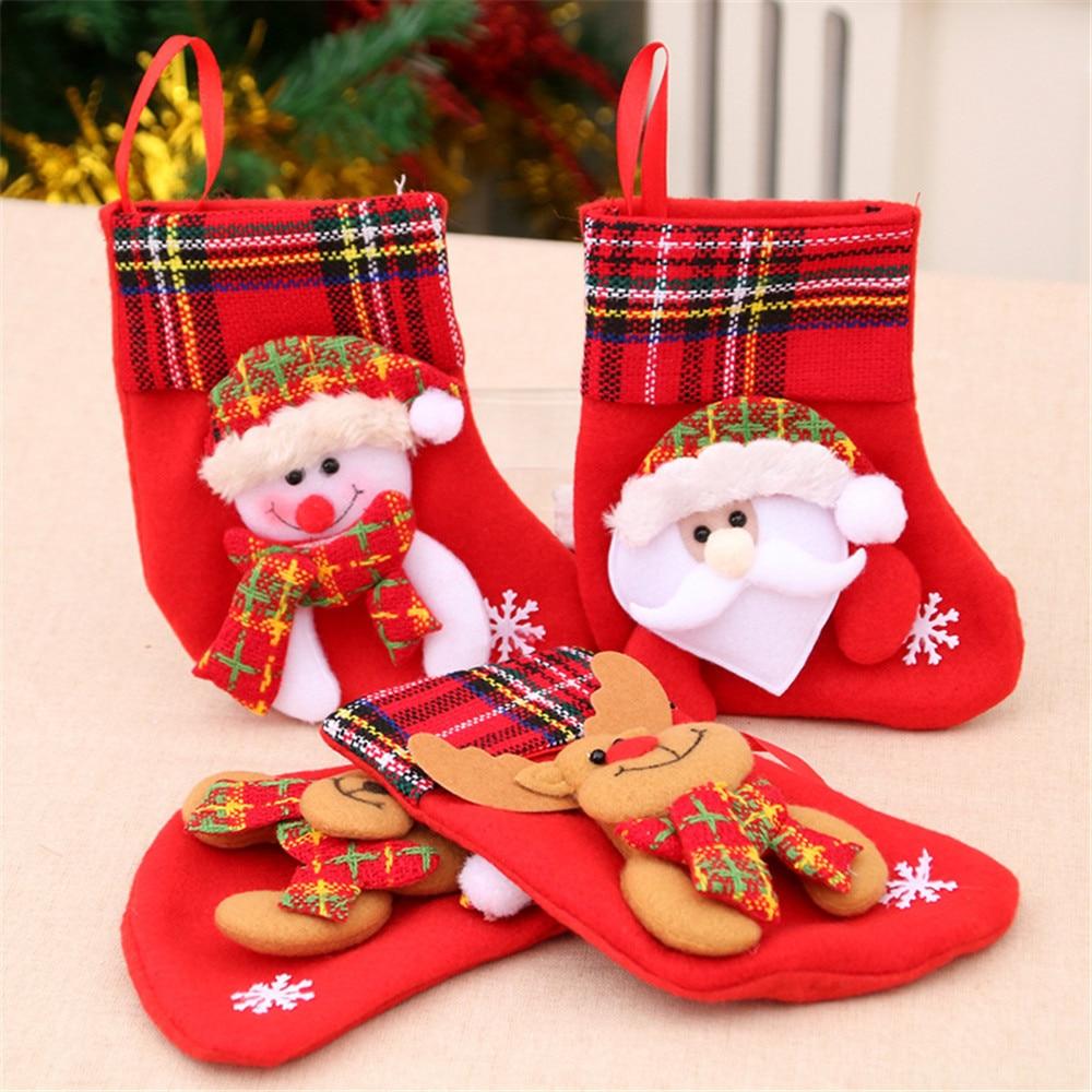 Новинка 2021, яркая Рождественская сумка, украшения, подвески, держатель для рождественских подарков
