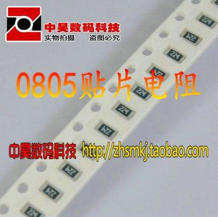 0805 remendo resistor 91R 91 código Euro 910