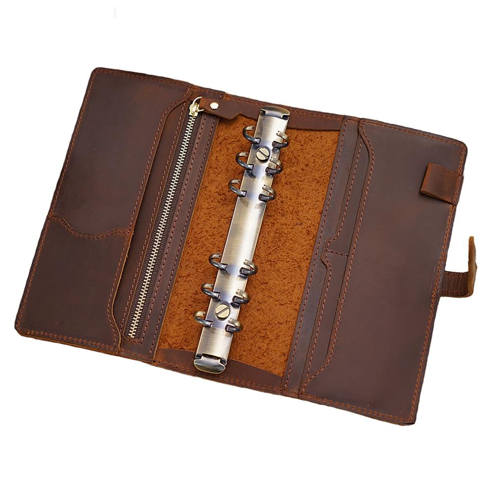 MatoTu A6 A5 кожаный спиральный органайзер для ноутбука с кольцом для переплетения ручной работы 80 листов с UsefulTools