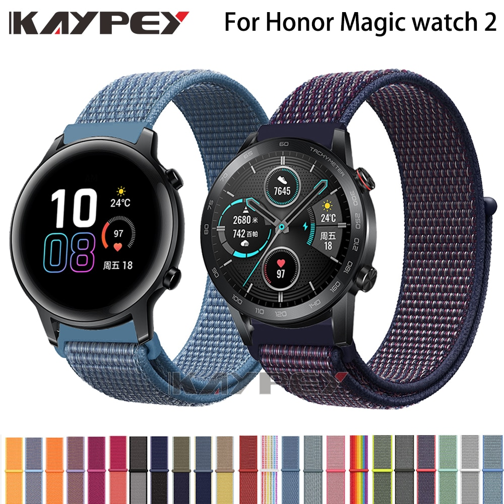Correa de nailon para Huawei Honor Magic Watch 2, correa de 42MM y 46MM, correa de nailon para relojes inteligentes Honor Magic