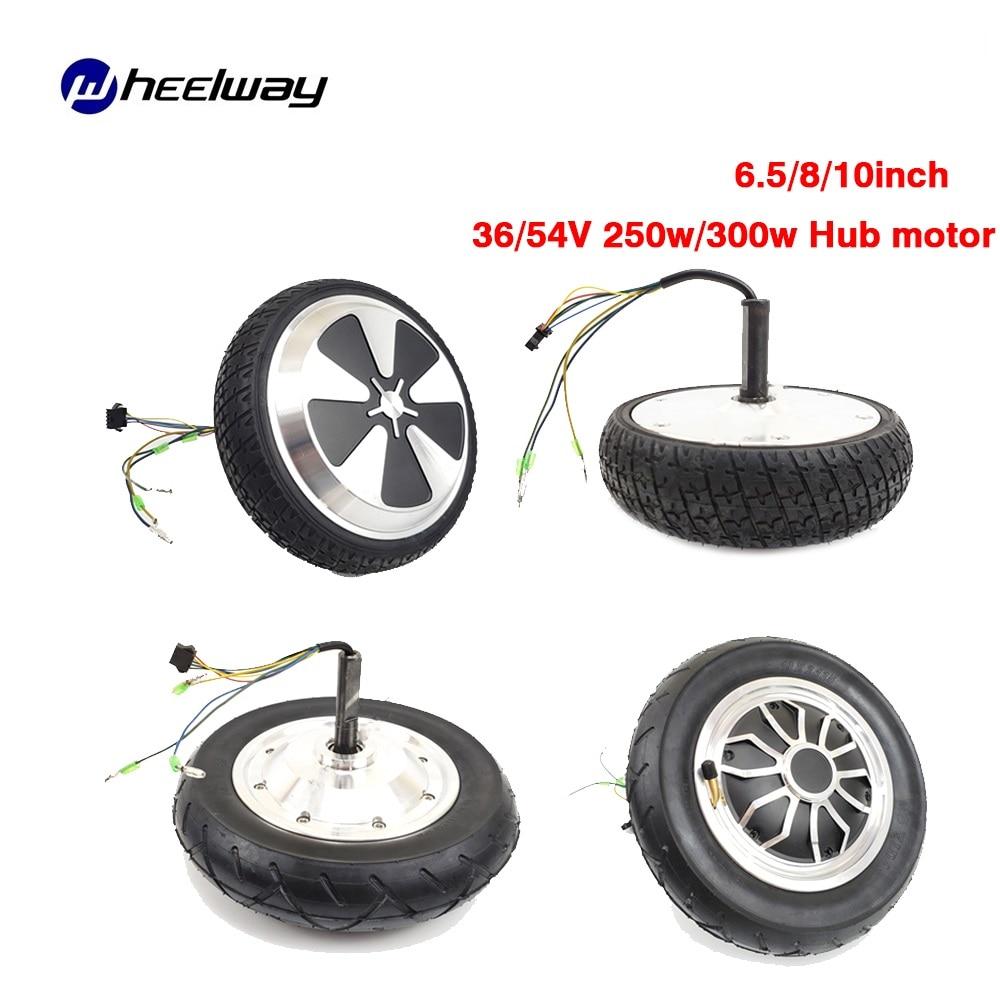 6.5/8/10inch Hub motor 36/54V 250w/300w electric balance car motor wheel electric scooter solid/vacuum tire motor Hub motor