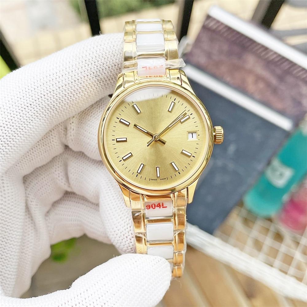 Women's 32mm log diving watch, automatic mechanical watch movement, ceramic bezel, women's diamond-studded sapphire stainless st enlarge