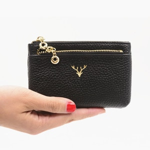 Women Card Holder Wallet Purse For Cards Porte Carte Genuine Leather Credit Card Holder Pouch Change Bag Business ID Card Wallet