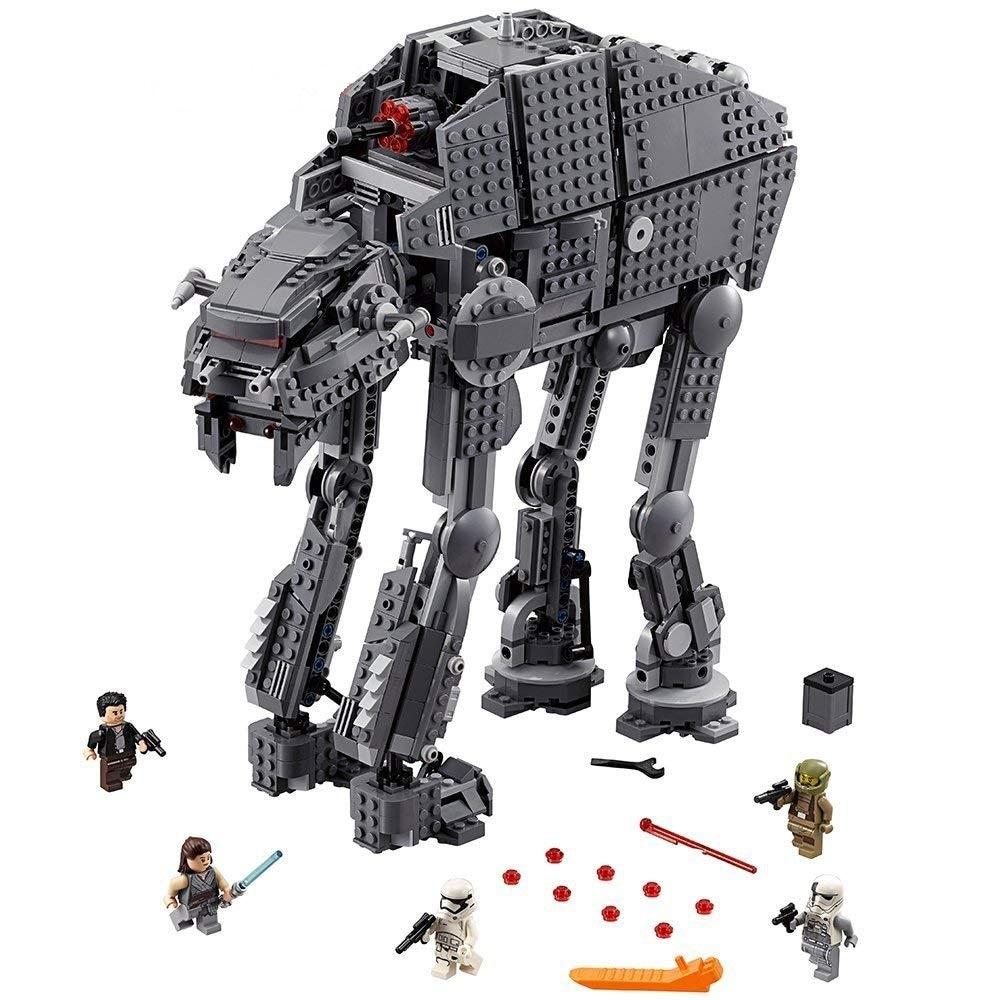 05130 de 10908 Serie de Star Wars de primer orden Heavy Assault Walker bloques de construcción de ladrillos 05041 de 75189 juguetes de Star Wars 79211