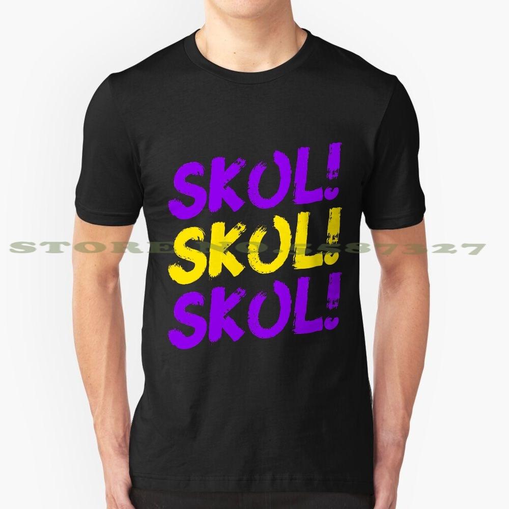 Skol Skol Skol Minnesota Fußball für Minnesota Fans, Vikings, Lila Gelb coole design t-shirt für männer frauen