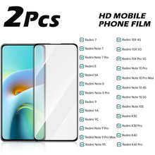 2PCS Protective Glass For Xiaomi Redmi 7 8 8A 9 9A 9C Tempered Glass Note 9S 10 Pro Max K30 K40 10X 10S 4G 5G Screen Protector