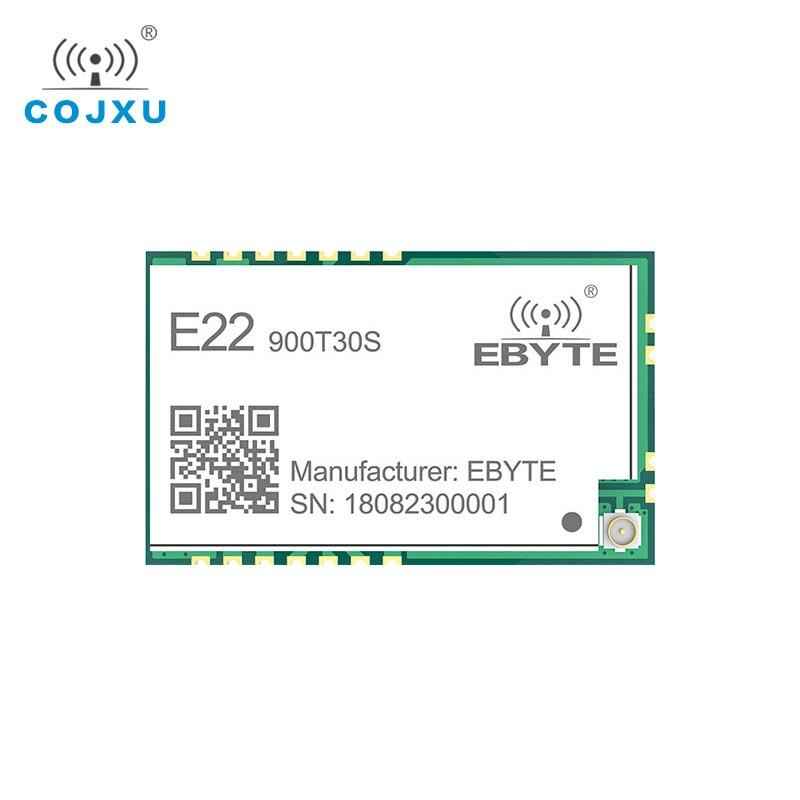 868mhz 915mhz cojxu e43 900t13s3 low cost iot module development board uart wireless transceiver transmitter receiver SX1262 1W UART LoRa TCXO 915mhz Module cojxu E22-900T30S  Wireless Module 868MHz Long Range IoT SMD IPEX Interface Transmitter