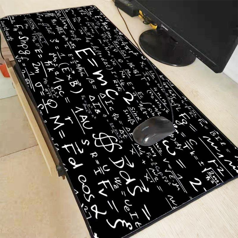 Mairuige 90X40CM Large Mouse Pad for Gaming Player Desk Laptop Rubber Mouse Mat Computer Mousepad Geometric Formula & Blackboard