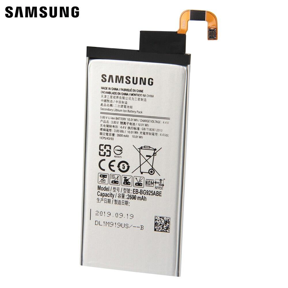 Original Battery EB-BG925ABE EB-BG925ABA For Samsung GALAXY S6 Edge G925F G925S S6Edge G925V G9250 G925FQ G925A 2600mAh enlarge