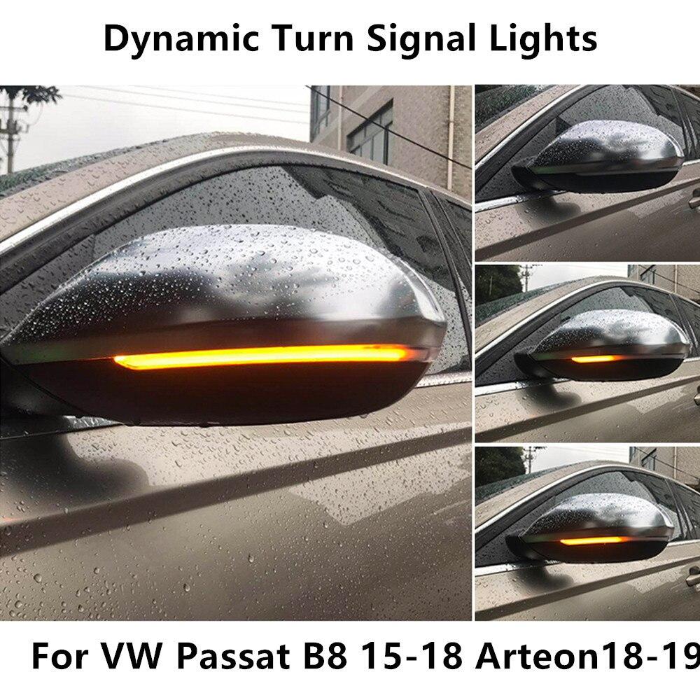 Dynamic Blinker LED Turn Signal For VW Passat B8 Variant Arteon Light Mirror Indicator Sequential 2016 2017 2018 2019