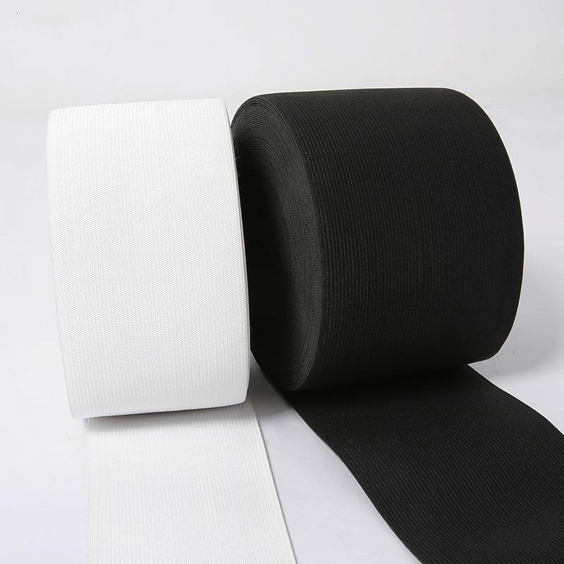Nuevo 3M 75mm ancho grueso en forma cinta elástica cinturón blanco y negro más banda de Nylon elástico accesorios de costura de la ropa DIY