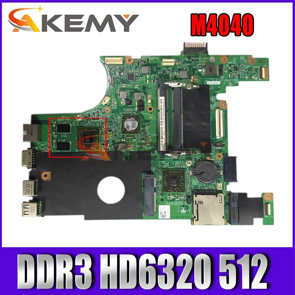 Akemy للوحة الأم DELL Inspiron M4040 0V57HK V57HK DDR3 HD 6320 512 تم اختبارها
