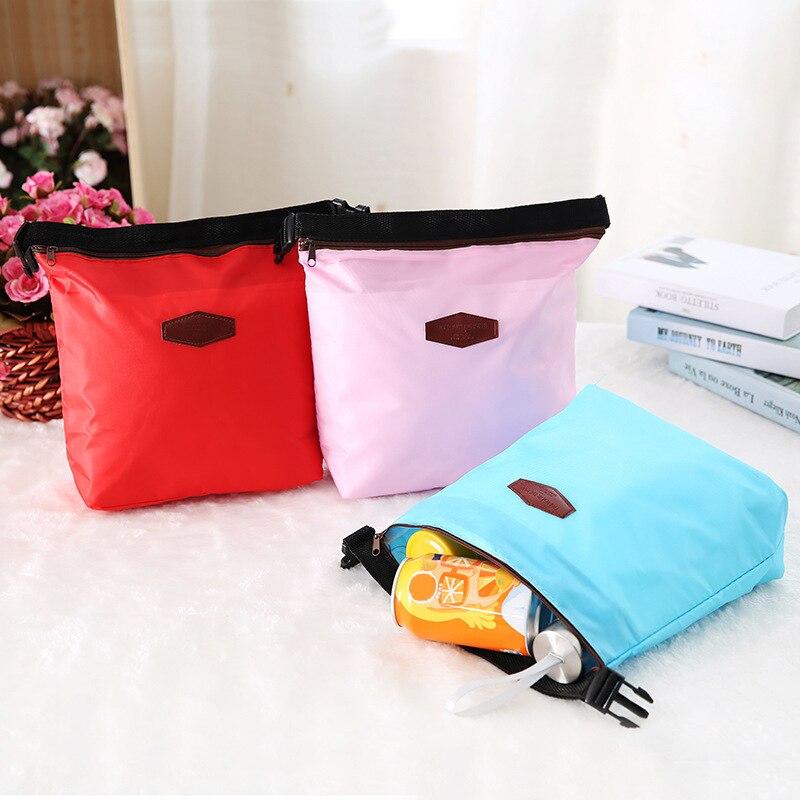 Модные Изолированные сумки шести цветов, сумки-холодильники, ланч-боксы, сумки для пикника, портативные вместительные бытовые сумки для хра...