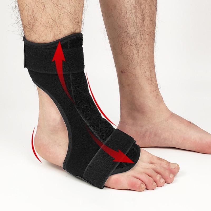 Ortesis de ortesis de caída de pie de noche soporte de fascitis de tobillo de aluminio