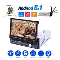 android 10 1 car radio 1 din multimedia mp5 player stereo hd 7 inch touch screen gps wifi bluetooth sd usb fm rear view camera