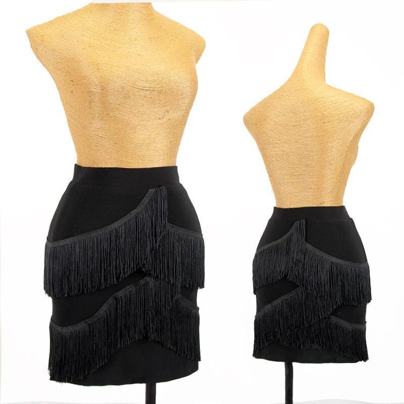 تنورة رقص لاتيني للنساء الكبار بيثون نمط تنورة المهنية اللاتينية الرقص ممارسة الملابس رومبا تانجو سامبا الملابس DQL6222