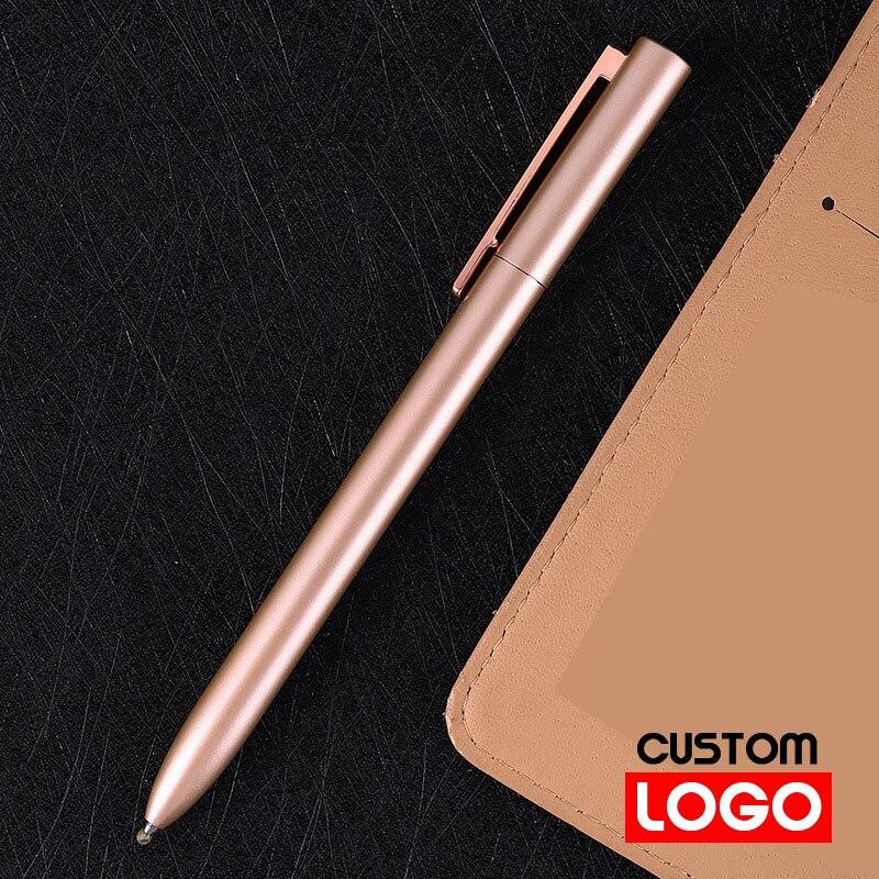 Разноцветная металлическая ручка с индивидуальным логотипом и надписью, вращающаяся шариковая ручка, ручка для подписи