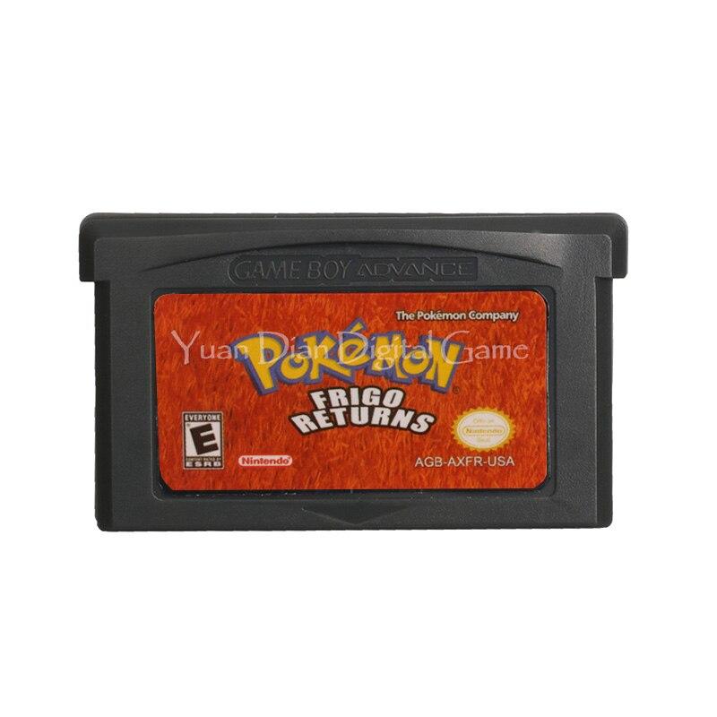 Cartucho para Nintendo GBA, tarjeta de consola de videojuegos, serie Poke, Frigo,...