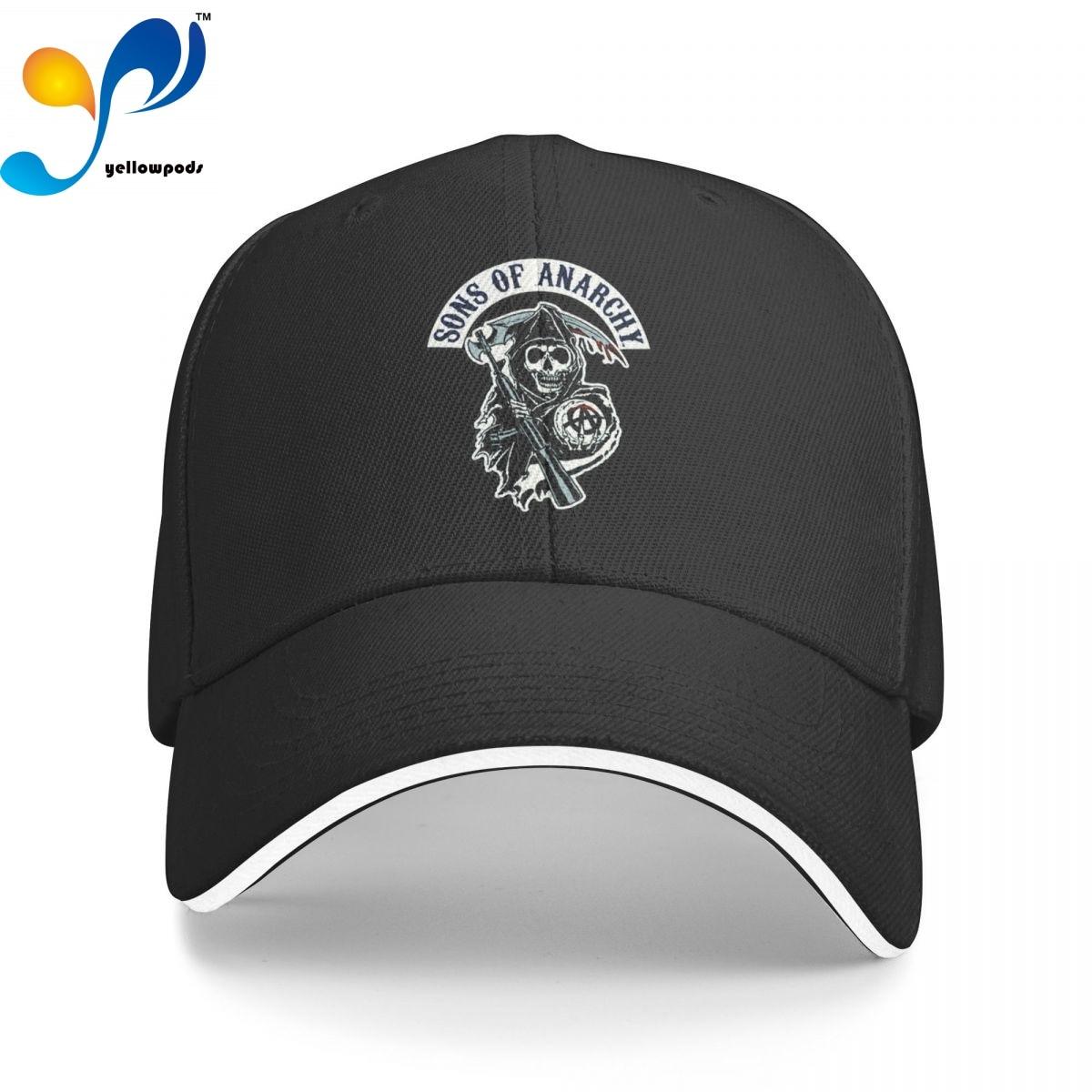 Мужская и Женская Бейсболка Sons Of Анархии Jax, регулируемые бейсболки унисекс, шапки с клапаном