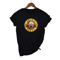 T-shirt pour homme  vetement de rue  en coton  avec pistolet e rose  style streetwear  2021  100