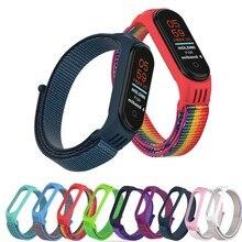 Bracelet de Sport pour Xiao mi bande 3 4 Bracelet montre Nylon bracelets de poignet pour xiao mi mi bande 4 3 Correa Bracelet mi bande 4 3 Bracelet