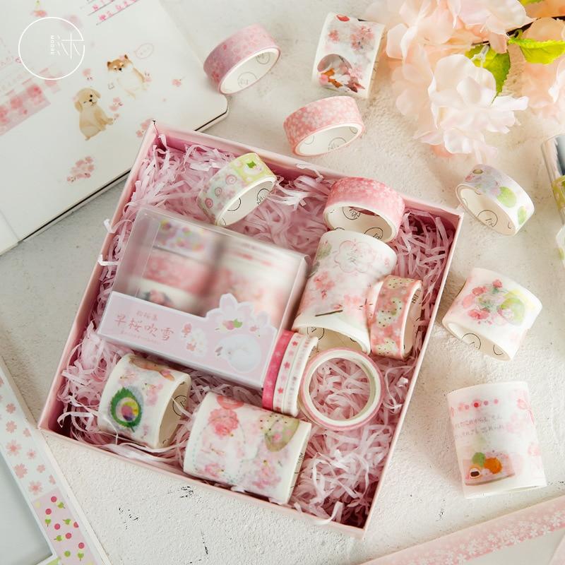 6 pcs/pack Sakura Love Affair Bullet Journal Washi Tape Set DIY Scrapbooking Masking Tape School Office Supply Escolar Papelaria