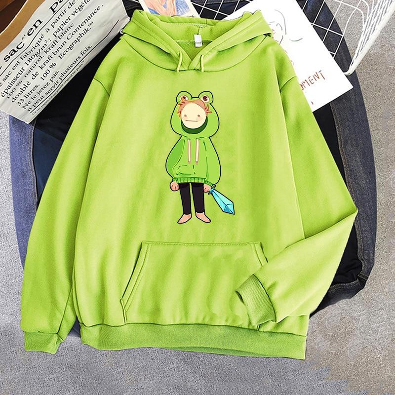 Men's Frog Hoodie Sweatshirts Men Women Pullover Unisex Harajuku Dream Team Smp Tracksuit Hip-hop Anime Long Sleeve Hoody men unisex pitbull limited edition 3d dog print zipper hoodie long sleeve sweatshirts jacket pullover tracksuit