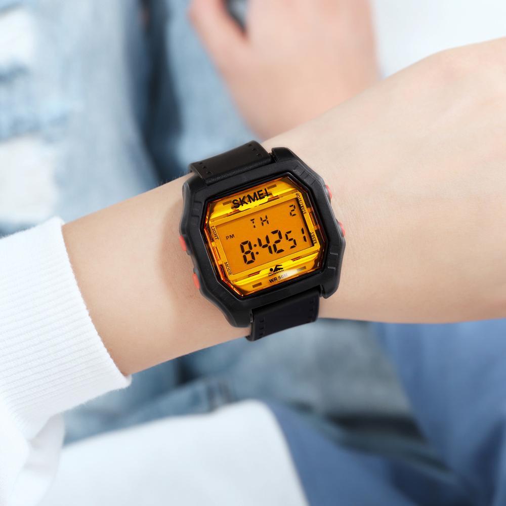 SKMEI Fashion Women electronic Wristwatch Casual Ladies Girls Sports Watches Relogio Feminino Chrono Calendar Clock for Female enlarge