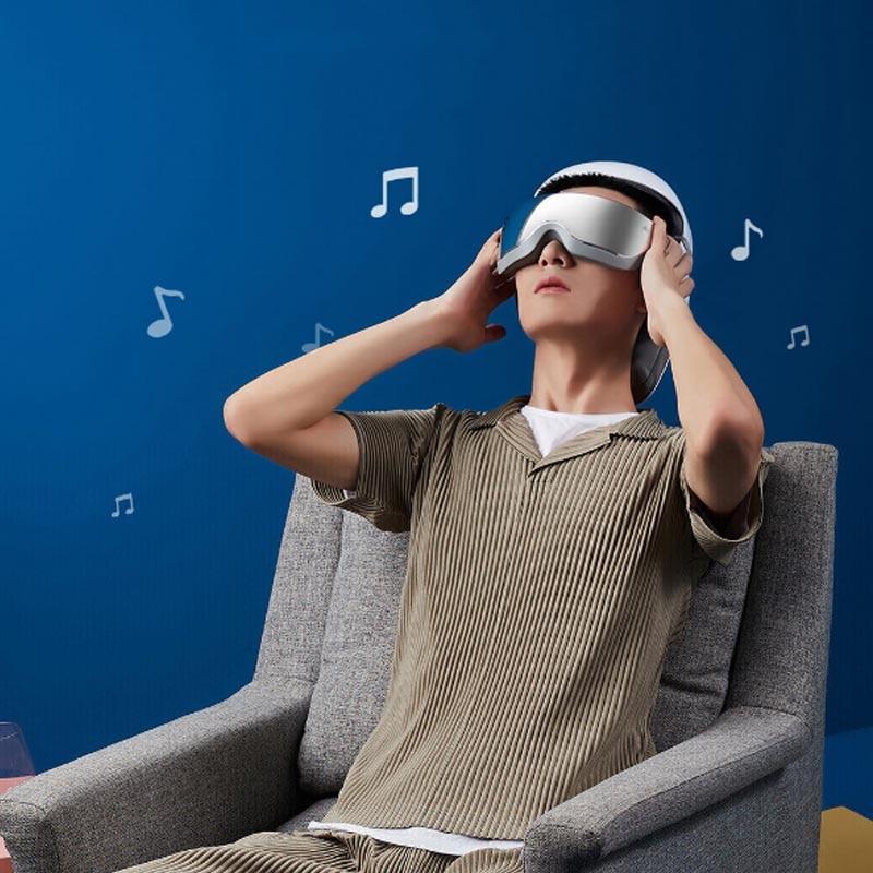 New Youpin MOMODA Smart Massage Helmet Head Eye Neck 3-In-1 Muscle 4 Modes Promote Sleep APP Control Music Relieve Stress Type-C