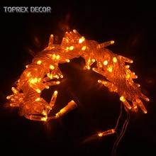 Toprex Orange emitting 10m LED string outdoor backyard decor christmas tree light party decor patio lights