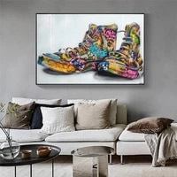 trend graffiti canvas shoes canvas art painting still life poster wall art picture for boy bedroom living room wall decoration
