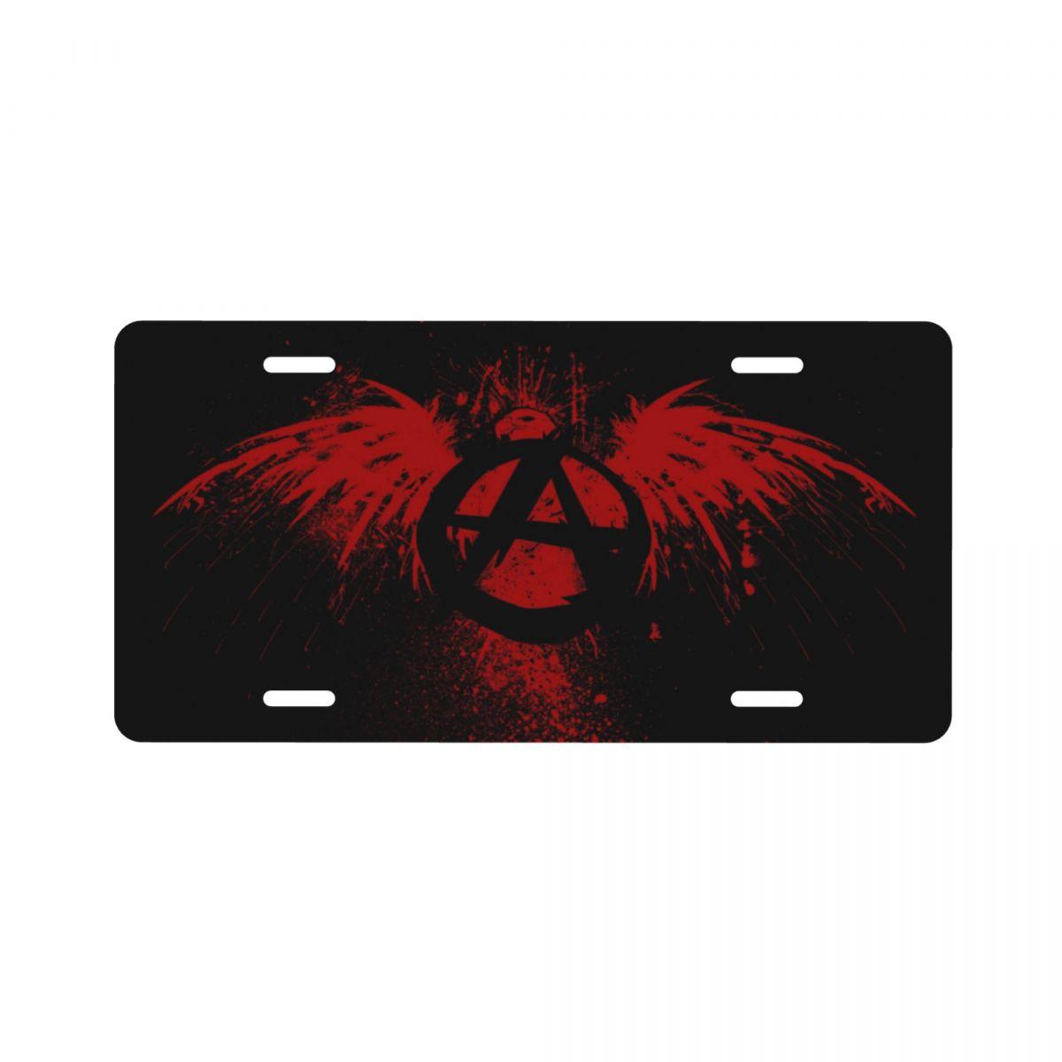 Алюминиевый номерной знак с рисунком анархии подходит для большинства моделей 15x30 см
