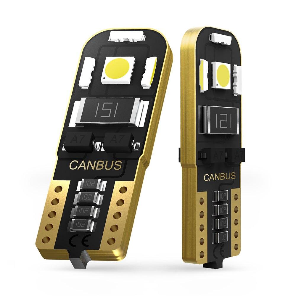 2pcs T10 W5W 194 168 2825 Clearance License Lâmpada lâmpadas LED Interior Luz Para Mercedes Benz W211 W221 W220 W163 W164 W203