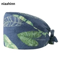 Pet Grooming Doctor Hats Hospital Medical Scrubs Caps 100 cotton Nurse Caps with Sweat-absorbent Multicolor Floral Print Lab Hat