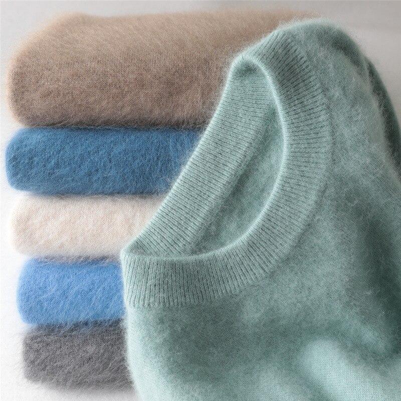Мужской свитер jinjiaxian с круглым вырезом, толстый свитер с капюшоном, мужской зимний свободный свитер, вязаный свитер оверсайз, кашемировый с...