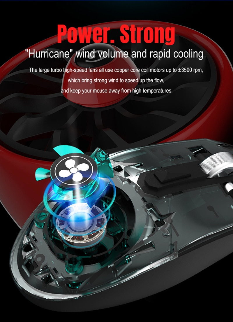 RGB Wired Gaming Mouse Noiseless Coolig Fan Hole Mice With LED Backlit USB 3200DPI Mouse For Lenovo PC Computer enlarge